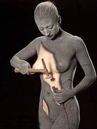 illustration malaise corporelle femme